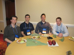 Daniel MacArthur (Genetic Future), Anthony Fejes (Fejes.ca), Dan Koboldt (MassGenomics), and David Dooling (Politigenomics)